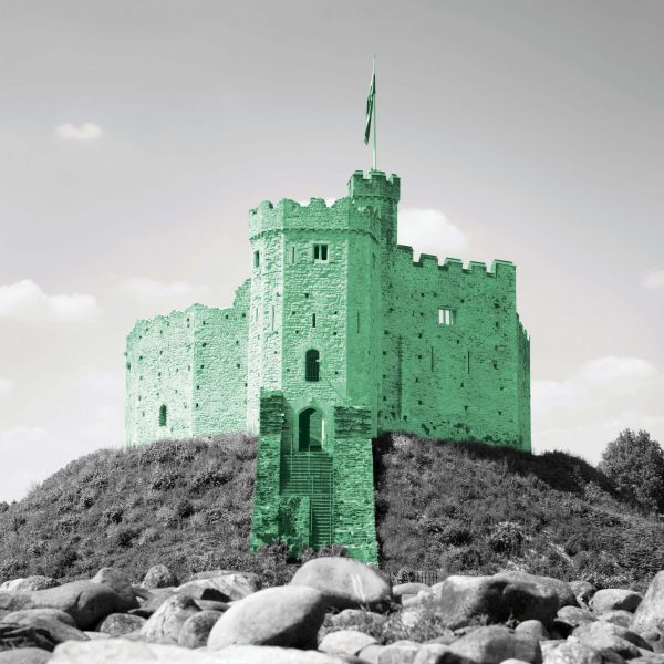 cardiff castle keep, wales uk